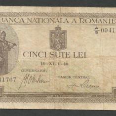 ROMANIA 500 LEI 1940 [5] - Bancnota romaneasca