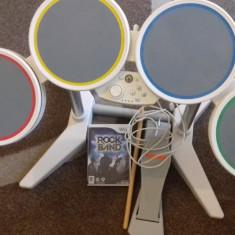 Set Tobe Nintendo Wii + Joc Rock Band, Kit acceosrii