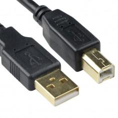 Cablu USB 2.0 tip A-B transfer date, 480 mbps, 1.8m, negru, Activejet