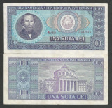 ROMANIA  100  LEI  1966   [03]    a UNC  ,  aproape necirculata