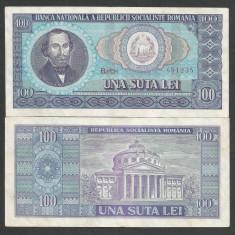 ROMANIA 100 LEI 1966 [03] a UNC, aproape necirculata - Bancnota romaneasca