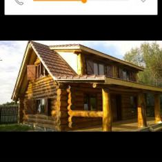 Casa de bustean cabana lemn rotund - Casa de vanzare, 250 mp, Numar camere: 2, Suprafata teren: 100