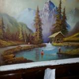 Tablou pictura ulei pe pinza, Natura, Art Nouveau