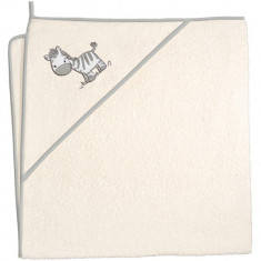 Prosop cu capison - Ceba Baby - Zebra Bej - Prosop baie copii
