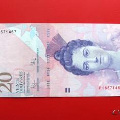 VENEZUELA  -  20 Bolivares 2009  -  aUNC
