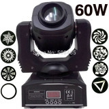 NOU! MOVING HEAD PROFESIONAL 60 WATT COLOR RGBW,GOBO SI BEAM,LUMINA DISCO SUPER.