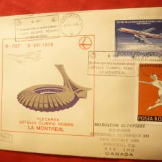 Plic special Aviatie Boeing 707 -Zbor la Montreal cu Lotul Olimpic