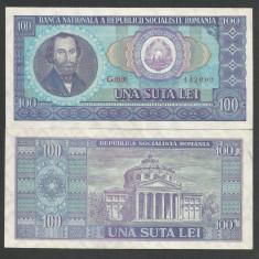 ROMANIA 100 LEI 1966 [01] a UNC, aproape necirculata - Bancnota romaneasca