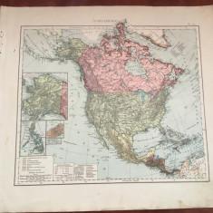 America de nord - Veche harta inceput de secol XX Nordamerika !