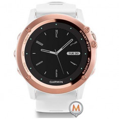 Garmin Fenix 3 Smartwatch Sapphire Edition Rose Gold with Band Alb