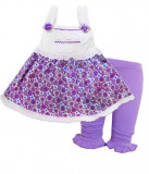 Rochita Carters cu pantalonasi mov, 1-2 ani, 3-6 luni, 6-9 luni
