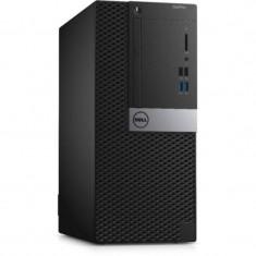 Sistem desktop Dell OptiPlex 5055 MT AMD Ryzen 7 Pro 1700 16GB DDR4 1TB HDD 256GB SSD AMD Radeon R7 450 4GB Windows 10 Pro Black - Sisteme desktop fara monitor Dell, 1-1.9 TB