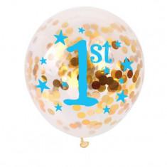 Baloane confetti 1st albastru - Baloane copii Disney