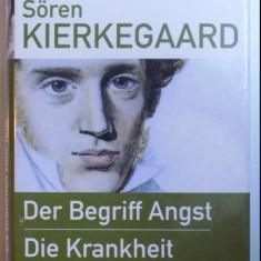 Der Begriff Angst Die * Krankheit zum Tode / Soren Kierkegaard 2005 - Filosofie