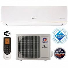Aparat aer conditionat Gree BORA GWH12AAB-K3DNA5A 12000BTU A++/A+ Wi-Fi Incorporat Inverter Alb + Kit Instalare Inclus, A++, Standard