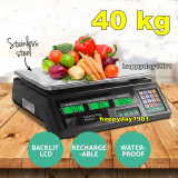 CANTAR ELECTRONIC Digital PIATA MAGAZIN AFISAJ DUBLU 40 kg, Platforma