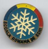 SCOALA ROMANA DE SCHI - Insigna - Sport de Iarna - RSR 1970's - SUPERBA