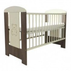 Patut pentru copii din lemn Klups Safari Sweet Bear - Patut lemn pentru bebelusi