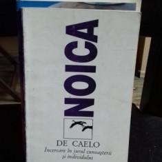 DE CAELO - INCERCARE IN JURUL CUNOASTERII SI INDIVIDULUI - CONSTANTIN NOICA