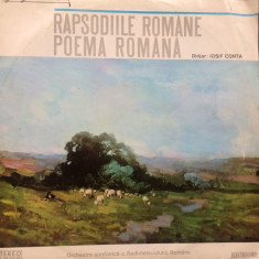 George enescu iosif conta rapsodiile romane poema romana disc vinyl lp muzica, VINIL, electrecord