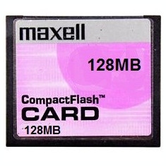CARD COMPACTFLASH 128Mb Maxell Compact Flash - Card memorie foto
