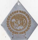 Placheta Aniv. 1928-1978  A.C.P.A.M Cluj