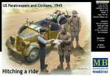 + Macheta 1/35 Masterbox 35161 - US Paratroopers and Civilians +, MB