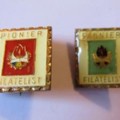 Lot 2 insigne pionier - Pionier Filatelist