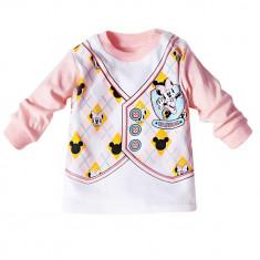 Bluza corai cu model Minnie Mouse, 1-3 luni, 6-9 luni