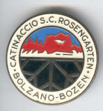 ROSENGARTEN BOLZANO- Insigna SCHI CONCURS Sport de Iarna 4 cm,  SUPERBA
