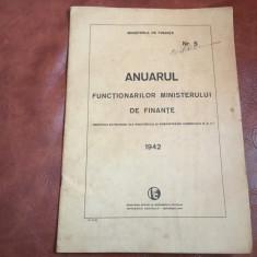 Anuarul functionarilor ministerului de finante administratia centrala anu 1942 !