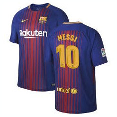 Tricou FC BARCELONA 10 MESSI MODEL NOU 2017/2018 - Echipament fotbal, Marime: L, M, S, XS, Tricou fotbal
