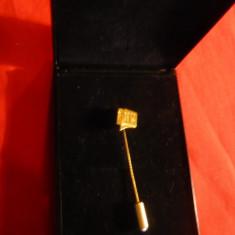 Ac de Cravata FNV - Olanda h= 6 cm, placuta din aur marcaj 585 = 14k