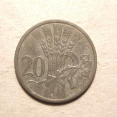 BOEMIA SI MORAVIA 20 HALERU 1943 -UNC, Europa