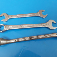 Chei MARI (3buc) inelara + fixe - CHROME VANADIUM - Cheie mecanica