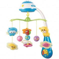 Carusel muzical cu proiectie - Sun Baby - Albastru - Tobogan copii