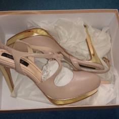 Sandale piele naturala Musette Cristhelen B, 40 - Sandale dama, Culoare: Bej