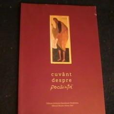 CUVINT DESPRE POCAINTA-IEROMONAHUL ATANASIE FL.-STARETUL SCHITULUI -PRODROMU-, Alta editura