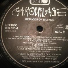 CAMOUFLAGE - METHODS OF SILENCE (1989/METRONOME/RFG) - Vinil/Impecabil/Rar - Muzica Pop