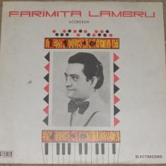 Vinyl/vinil Faramita Lambru -acordeon, muzica populara, EPE 01175, VG+