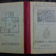 Carnet de membru Casa Ostirii/ MAPN, 1943 - Diploma/Certificat