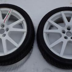 Roti Janta cauciuc iarna Dunlop 5 x 100 17 Skoda Audi VW Subaru Seat - Janta aliaj Skoda, Numar prezoane: 5