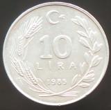 Moneda 10 LIRE - TURCIA, anul 1985  *cod 361  ALLU - A.UNC!, Europa, Aluminiu