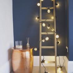 Ghirlanda luminoasa second hand 10M cu 20 LEDuri transparente