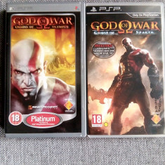 Jocuri PSP God of War Ghost of Sparta si Chains of Olympus, 18+, Sony