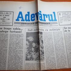 Adevarul 22 martie 1990-tulburarile dintre romani si maghiari din targu mures - Ziar
