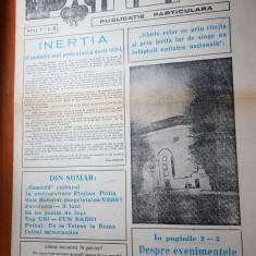 Ziarul strada martie 1990-evenimentele de la tg.mures si interviu florian pittis