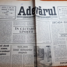 ziarul adevarul 14 martie 1990