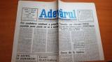 Ziarul adevarul 9 martie 1990-greva la metrou