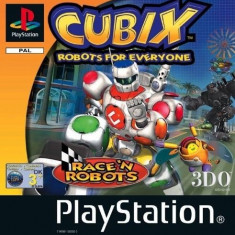 Cubix - Robots for everyone - Race N Robots - PS1  [sECOND HAND], Multiplayer, Curse auto-moto, 16+